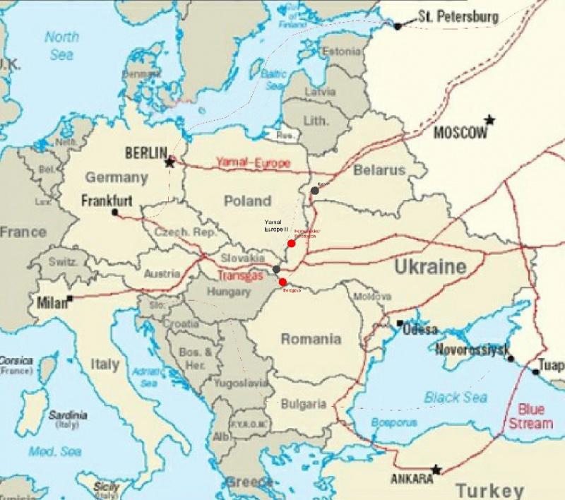 из Европы на Украину нет,